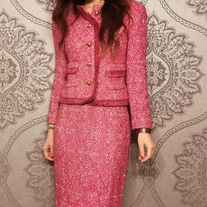 J. Crew two pieces wool tweed jacket skirt set 00